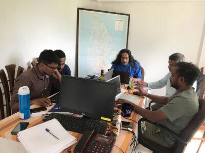 GMSL COLIBRI research team hard at work at the Hunnasgiriya field office