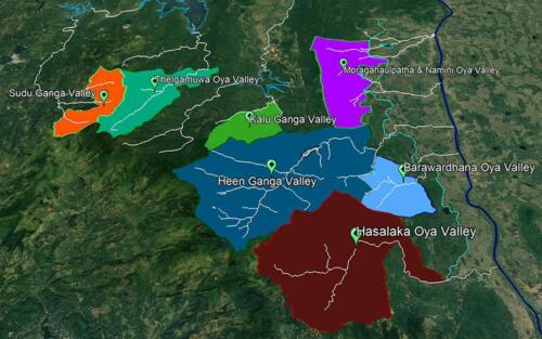 The river basins earmarked for study
